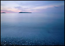 Islands in Lake Superior at dawn. Minnesota, USA