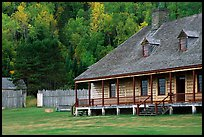 Historic Great Hall in Stockade site, Grand Portage National Monument. Minnesota, USA