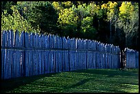Fence, Grand Portage National Monument. Minnesota, USA (color)