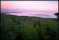 Forests and Lake Superior at Dusk. Minnesota, USA