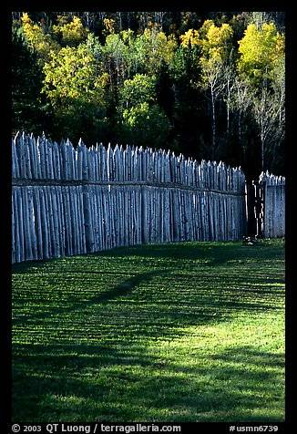 Fence, Grand Portage National Monument. Minnesota, USA