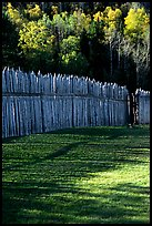 Fence, Grand Portage National Monument. Minnesota, USA ( color)