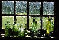 Window in the Kitchen building, Grand Portage National Monument. Minnesota, USA