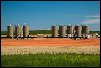 Oil tanks. North Dakota, USA (color)