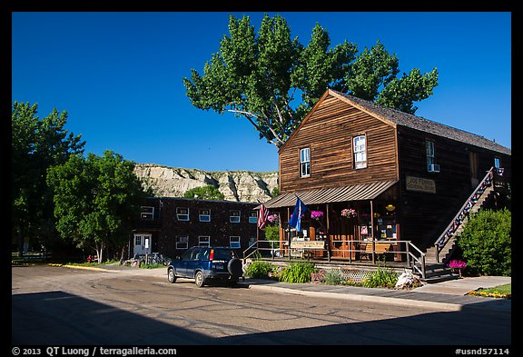 General store, Medora. North Dakota, USA (color)