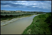 Little Missouri River. North Dakota, USA