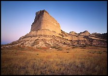 Scotts Bluff at sunrise. Scotts Bluff National Monument. Nebraska, USA ( color)