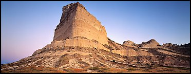 Scott's bluff at dawn,  Scotts Bluff National Monument. Nebraska, USA (Panoramic color)