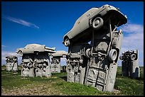 Standing trilithons, Carhenge. Alliance, Nebraska, USA ( color)