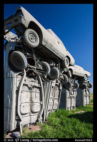 Carhenge Artwork made of scrapped cars. Alliance, Nebraska, USA (color)