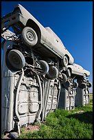 Carhenge Artwork made of scrapped cars. Alliance, Nebraska, USA ( color)