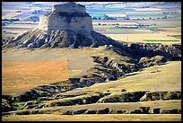 View from Scotts Bluff. Scotts Bluff National Monument. Nebraska, USA (color)