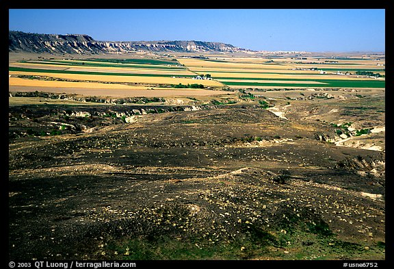 Plains seen from Scotts Bluff. Scotts Bluff National Monument. Nebraska, USA