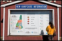 Fall foliage information board. New Hampshire, USA