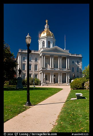 State capitol building of New Hampshire. Concord, New Hampshire, USA (color)
