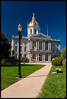 State capitol building of New Hampshire. Concord, New Hampshire, USA ( color)
