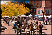 Saturday market in autumn. Concord, New Hampshire, USA (color)