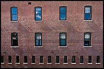 Brick building facade. Concord, New Hampshire, USA ( color)