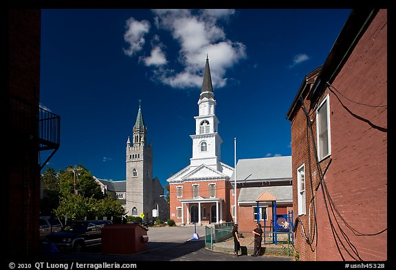 Churches. Concord, New Hampshire, USA (color)