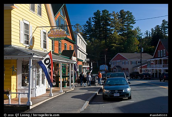 Street, North Woodstock. New Hampshire, USA (color)