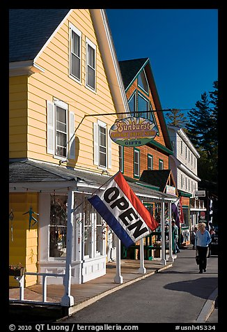 Stores, North Woodstock. New Hampshire, USA (color)
