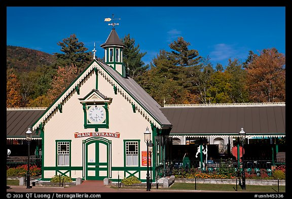 Historic train station. New Hampshire, USA (color)