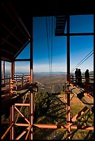 Cannon Mountain aerial tramway station, White Mountain National Forest. New Hampshire, USA (color)