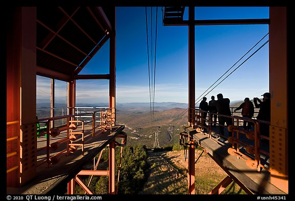Cannon Mountain aerial tram top station, White Mountain National Forest. New Hampshire, USA (color)