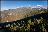 Forests and mountains, Franconia Notch State Park, White Mountain National Forest. New Hampshire, USA ( color)