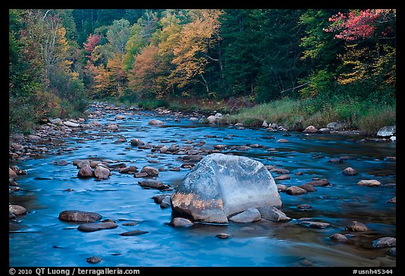 Stream in autumn, White Mountain National Forest. New Hampshire, USA (color)