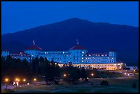 Mount Washington hotel at night, Bretton Woods. New Hampshire, USA ( color)