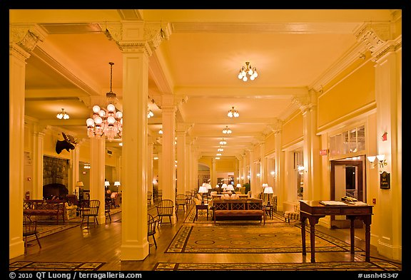 Hotel Lobby, Omni Mount Washington resort, Bretton Woods. New Hampshire, USA