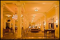 Hotel Lobby, Omni Mount Washington resort, Bretton Woods. New Hampshire, USA (color)