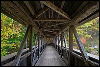 Covered bridge seen from inside, Franconia Notch State Park. New Hampshire, USA ( color)