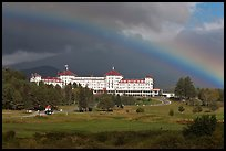 Mount Washington hotel and rainbow, Bretton Woods. New Hampshire, USA ( color)