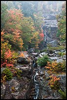 Waterfall, Crawford Notch State Park, White Mountain National Forest. New Hampshire, USA ( color)