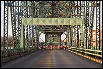 Roadway and lift bridge opening. Portsmouth, New Hampshire, USA ( color)