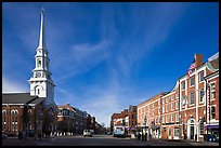 Market Square and church. Portsmouth, New Hampshire, USA ( color)
