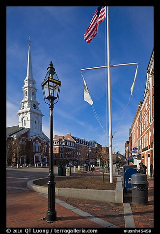 Market Square. Portsmouth, New Hampshire, USA (color)