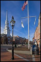 Market Square. Portsmouth, New Hampshire, USA ( color)