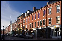 Street and church. Portsmouth, New Hampshire, USA ( color)