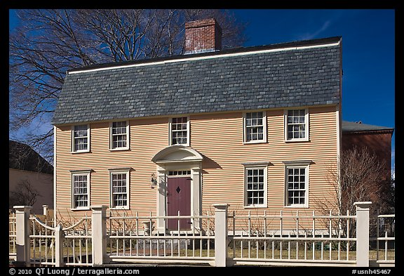 Oracle House, 1702, one of the oldest in New England. Portsmouth, New Hampshire, USA (color)