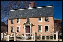 Oracle House, 1702, one of the oldest in New England. Portsmouth, New Hampshire, USA ( color)