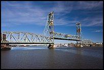 Memorial bridge. Portsmouth, New Hampshire, USA (color)