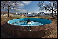 Empty basin, Prescott Park. Portsmouth, New Hampshire, USA ( color)