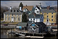 Historic houses on waterfront. Portsmouth, New Hampshire, USA ( color)