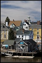 Group of historic houses. Portsmouth, New Hampshire, USA ( color)