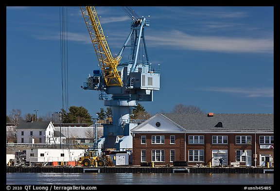 Crane, Naval Shipyard. Portsmouth, New Hampshire, USA (color)