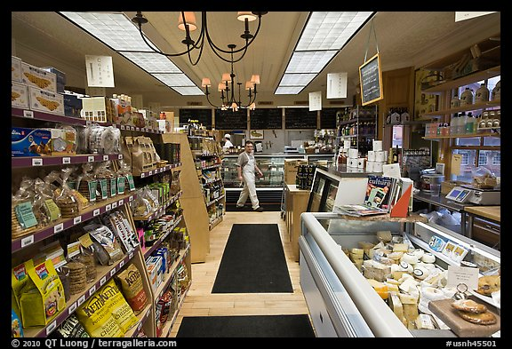 Grocery store interior. Walpole, New Hampshire, USA (color)