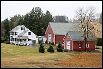 House and barns. Walpole, New Hampshire, USA (color)